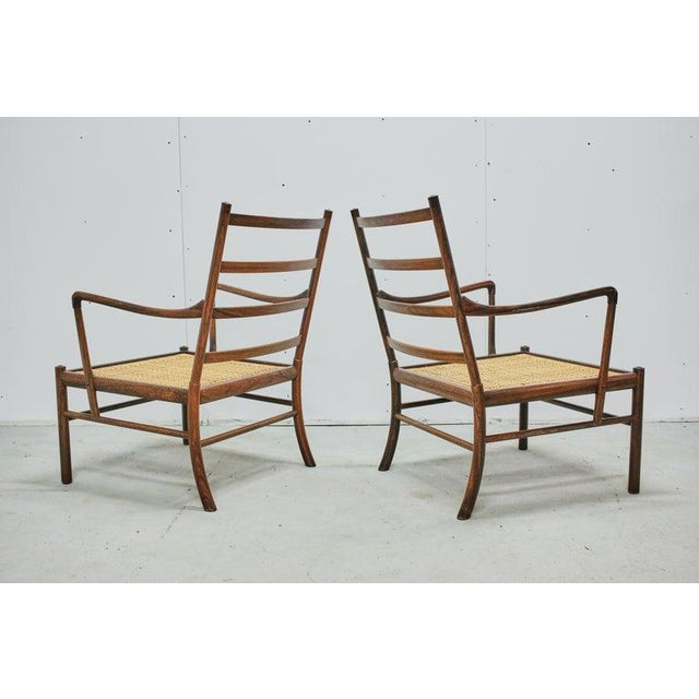Brown Rosewood Ole Wanscher Colonial Chairs, P. Jeppesens Møbelfabrik, Denmark, 1960s For Sale - Image 8 of 13