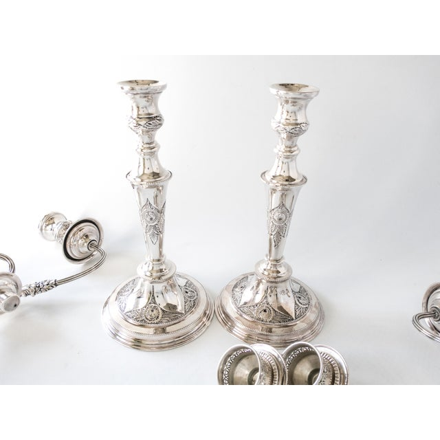Antique English Silverplate Candelabra - A Pair - Image 3 of 11