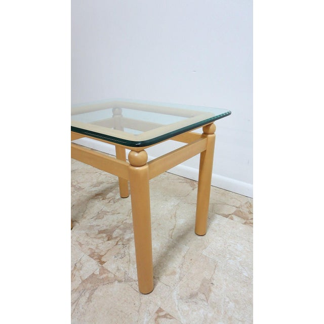 Ethan Allen Floating Glass End Table For Sale In Philadelphia - Image 6 of 7