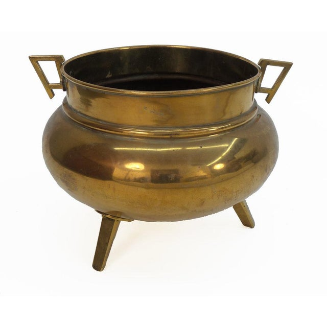 Aesthetic Movement English Aesthetic Movement Period Brass Planter For Sale - Image 3 of 5