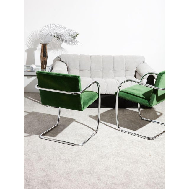 Ludwig Mies Van Der Rohe Tube Chrome Cantilever Side Chair For Sale In New York - Image 6 of 7
