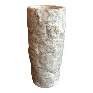 Minimalist Japanese Vase, Signed by Artist For Sale