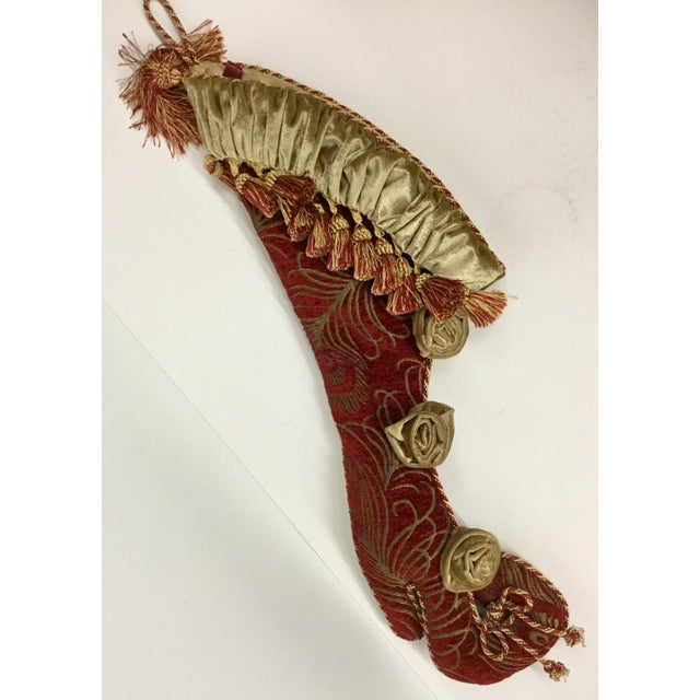High Heel Upholstery Tasseled Hanging Stocking For Sale - Image 11 of 11