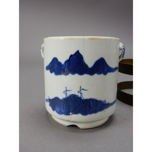 Ceramic Antique Chinese Blue & White Tea/Tobacco Jar For Sale - Image 7 of 11