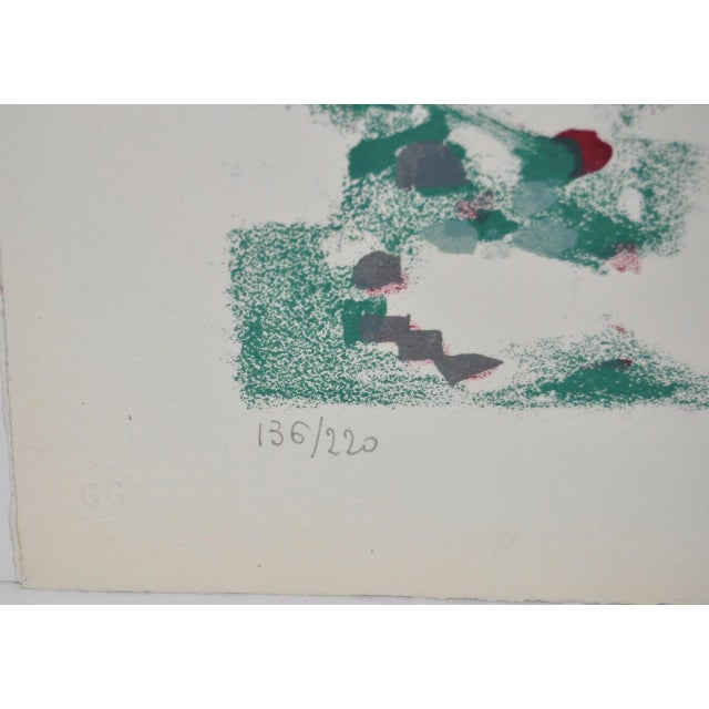 Abstract 1950s Vintage Original Pencil Signed Lithograph by Alexandre Sacha Garbell For Sale - Image 3 of 6