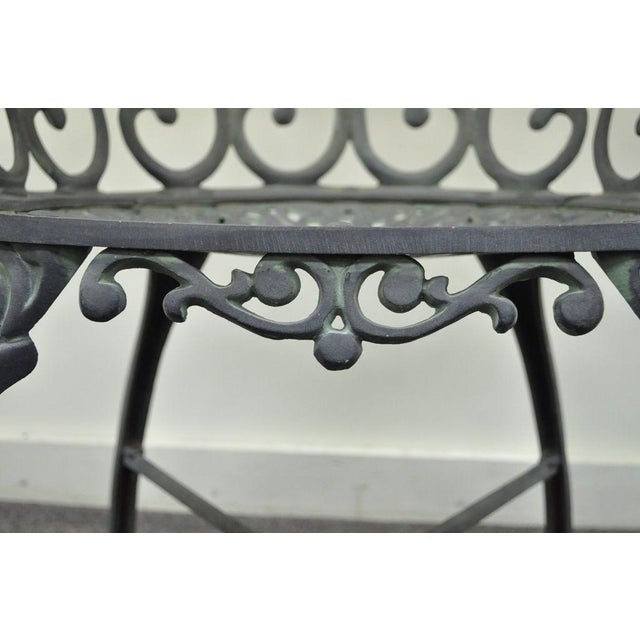 Vintage Cast Aluminum Heart Back French Style Patio Chairs - Set of 4 For Sale - Image 10 of 11