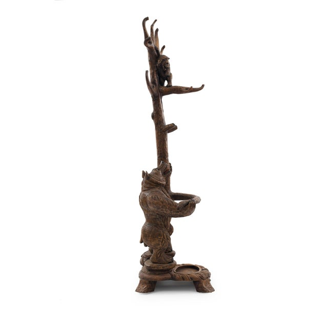 Rustic Rustic Black Forest Style '20th Century' Hatrack/Umbrella Stand For Sale - Image 3 of 9