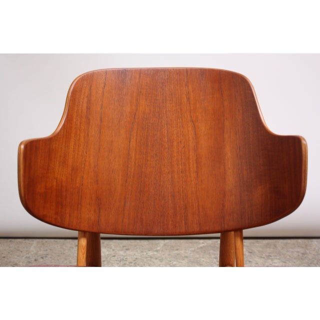 Ib Kofod-Larsen Danish Sculptural Shell Chairs in Teak and Beech - a Pair For Sale - Image 10 of 13