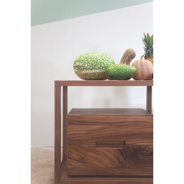 Contemporary Bodega Console, Cenicero and Conacaste Solid Wood For Sale - Image 3 of 8