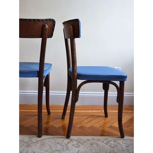 French 1950s Vintage Thonet Cafe Chairs- Set of 3 For Sale - Image 3 of 9