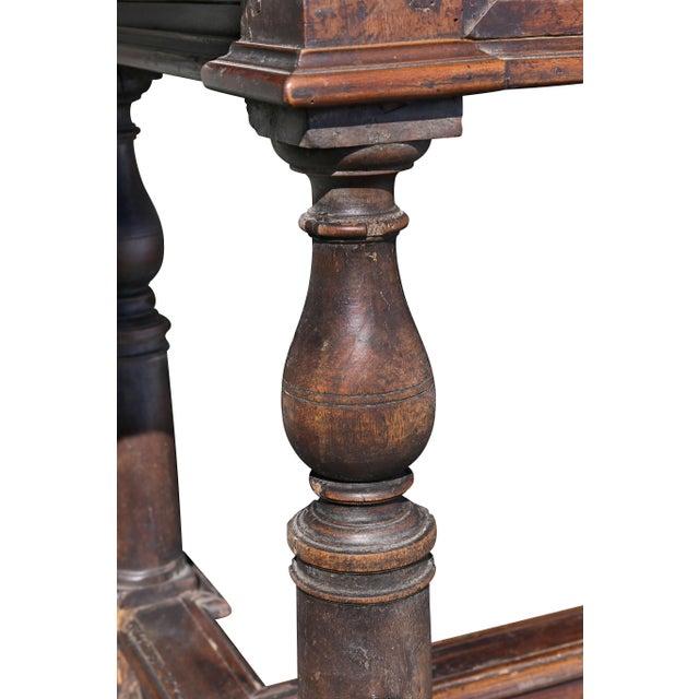 Italian Baroque Walnut Side Table For Sale In Boston - Image 6 of 12
