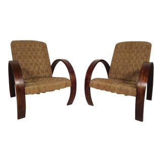 Mid-Century Modern Rope Lounge Chairs in the Style of Bas Van Pelt For Sale