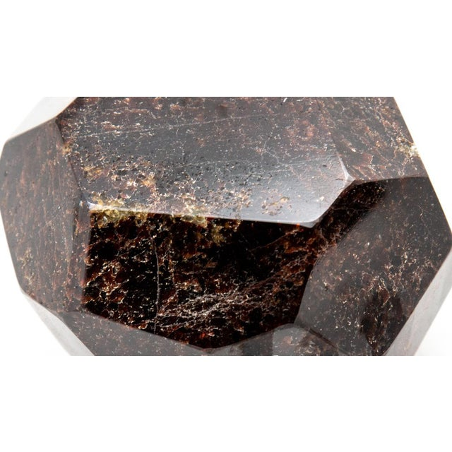 """Faceted garnet specimen. Measures: 5"""" x 4"""" approximately. Beautiful deep red. Available Now"""