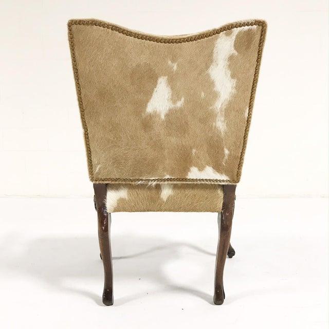1770s Antique Italian Walnut Armchair Restored in Brazilian Cowhide - Image 5 of 10