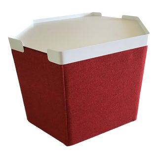 Blu Dot Hecks Thurmond Red Tray Top Ottoman