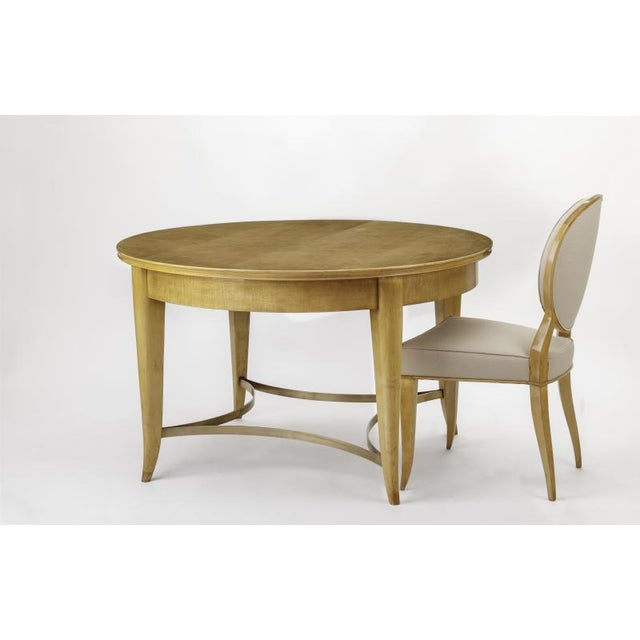 1950s Andre Arbus Documented Rarest Sycamore Dinning Set With Six Chairs For Sale - Image 5 of 6