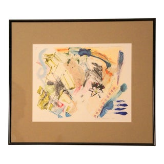 Original Mixed Media Watercolor & Collage Painting For Sale