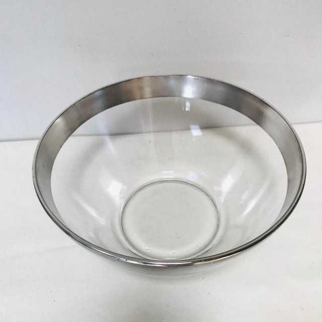 Mid-Century Modern Mid-Century Modern Dorothy Thorpe Sterling Silver Rimmed Bowl For Sale - Image 3 of 5