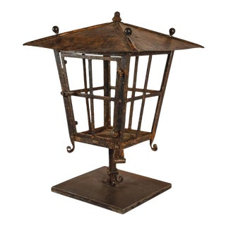 French Copper and Iron Lantern For Sale
