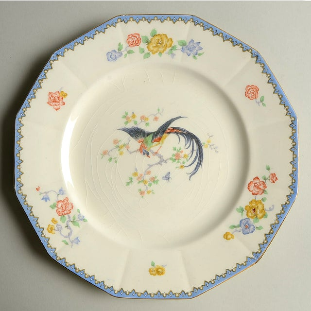 Vintage Mixed Bird Dinner Plates - Set of 8 For Sale - Image 9 of 10
