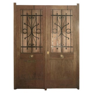 French Fruitwood Chateau Doors - a Pair For Sale