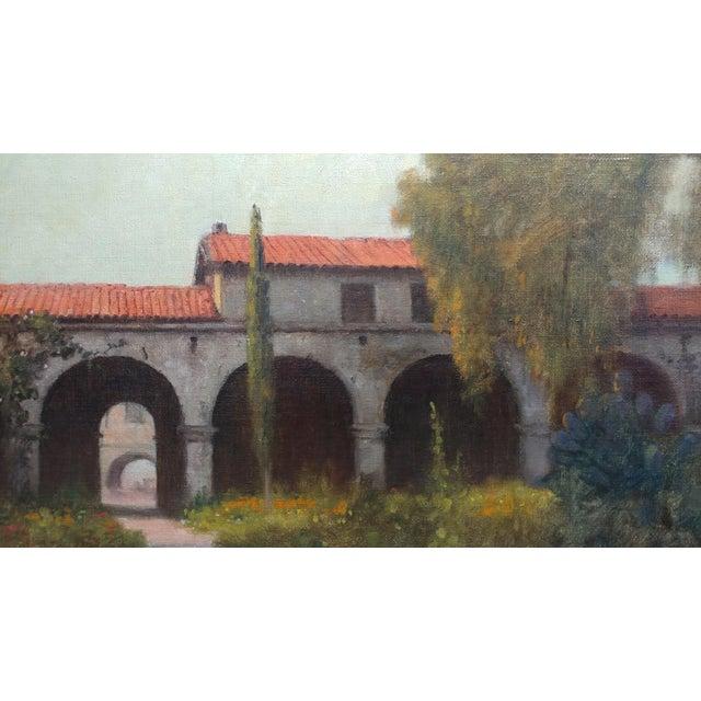 Impressionism William Barr -Mission Capistrano c1920s -Impressionist California Oil painting For Sale - Image 3 of 10