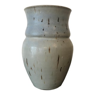 1970s Light Blue Studio Pottery Vase