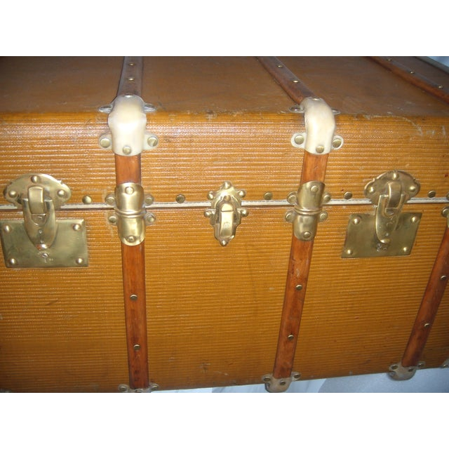 French Wood, Vellum & Leather Trunk - Image 6 of 10