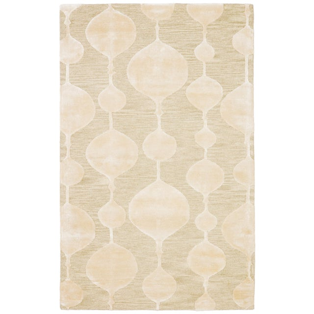 Nikki Chu by Jaipur Living Sui Handmade Geometric Beige/ Cream Area Rug - 8′ × 10′ For Sale In Atlanta - Image 6 of 6