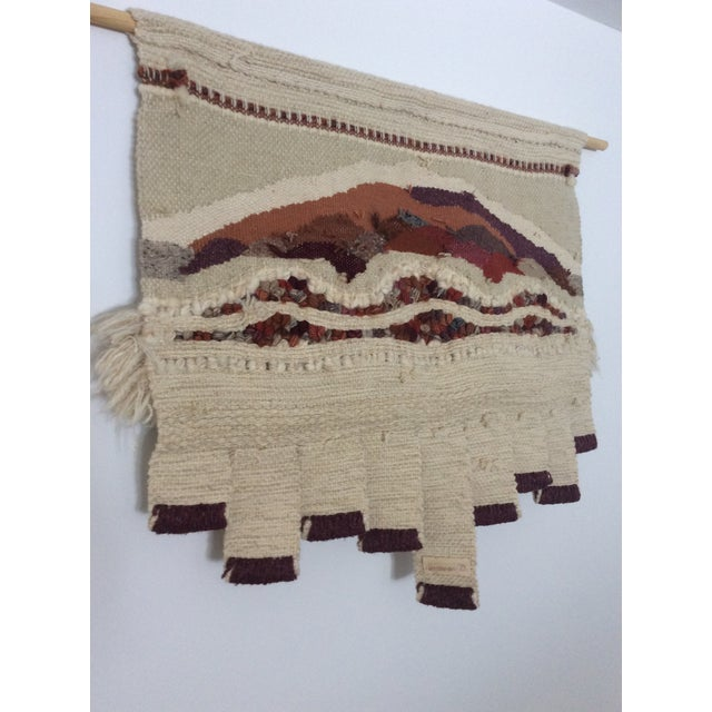 Cream Vintage Bingaman Textile/Fiber Art/Macramé For Sale - Image 8 of 10