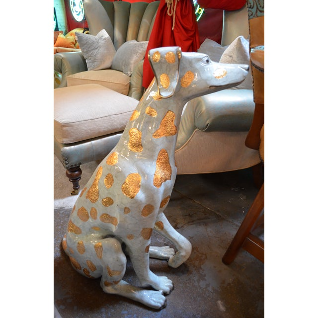 2010s Life Size Hand Made Glazed Old Lost Wax Bronze Dalmation Statue For Sale - Image 5 of 8