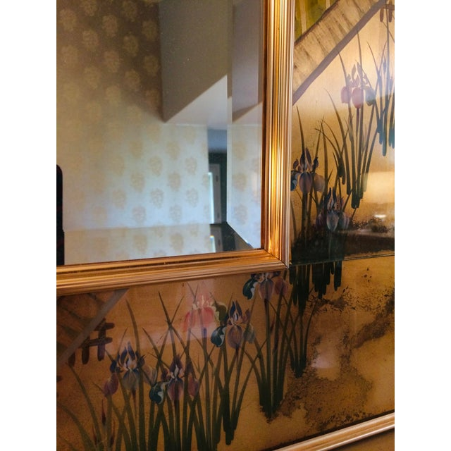 1980s La Barge Chinoiserie Mirror For Sale - Image 9 of 13