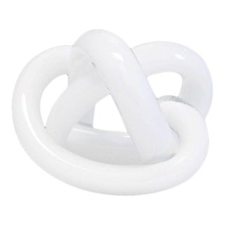 SkLO Wrap Object Glass Knot - White For Sale
