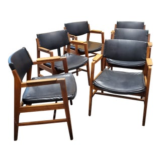 Johnson Chair Company Arm Chairs - Set of 6 For Sale