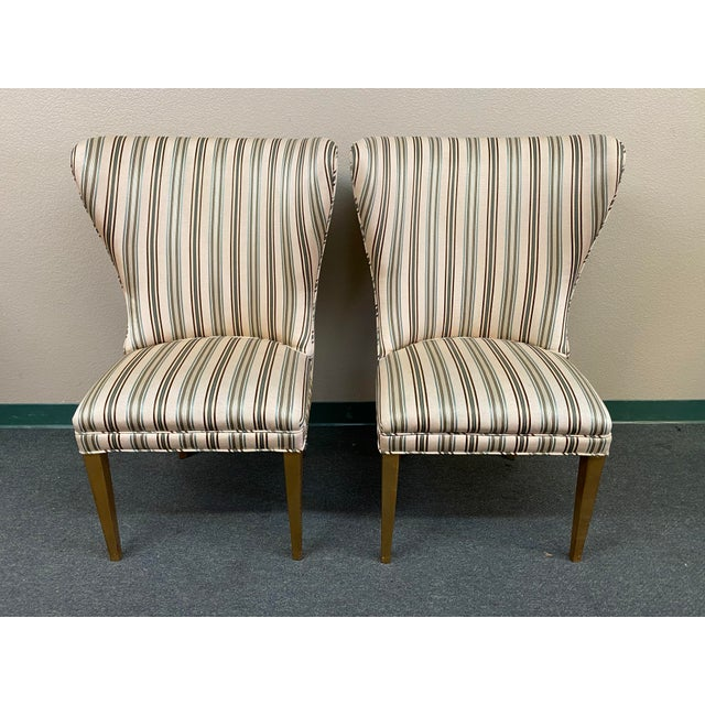 Late 20th Century Custom Design Side Chairs - a Pair For Sale - Image 12 of 12