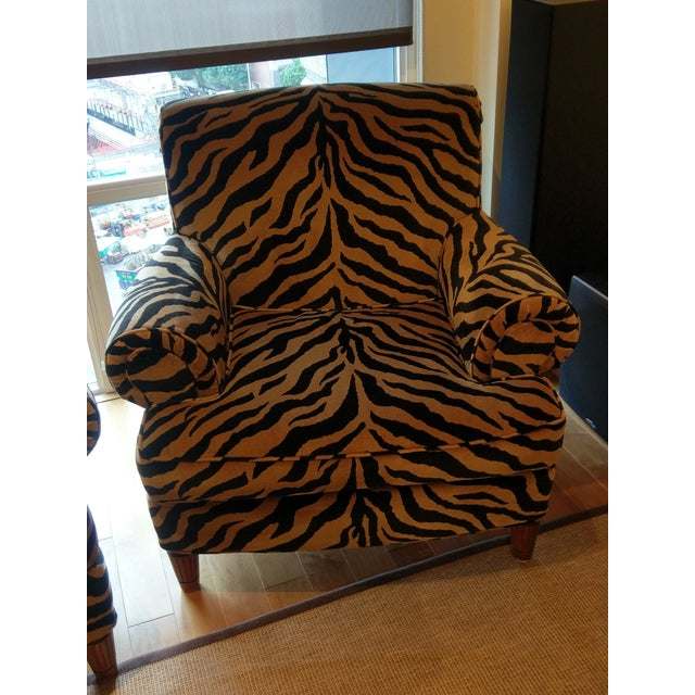 Tiger Print Chairs - Pair - Image 6 of 8