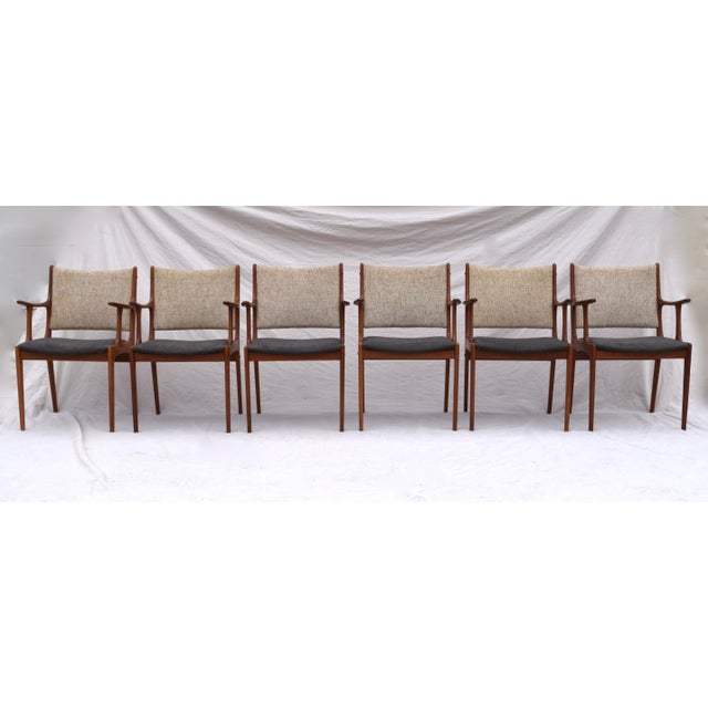 Danish Modern Dining Chairs by Johannes Andersen- Set of 6 For Sale In Philadelphia - Image 6 of 11
