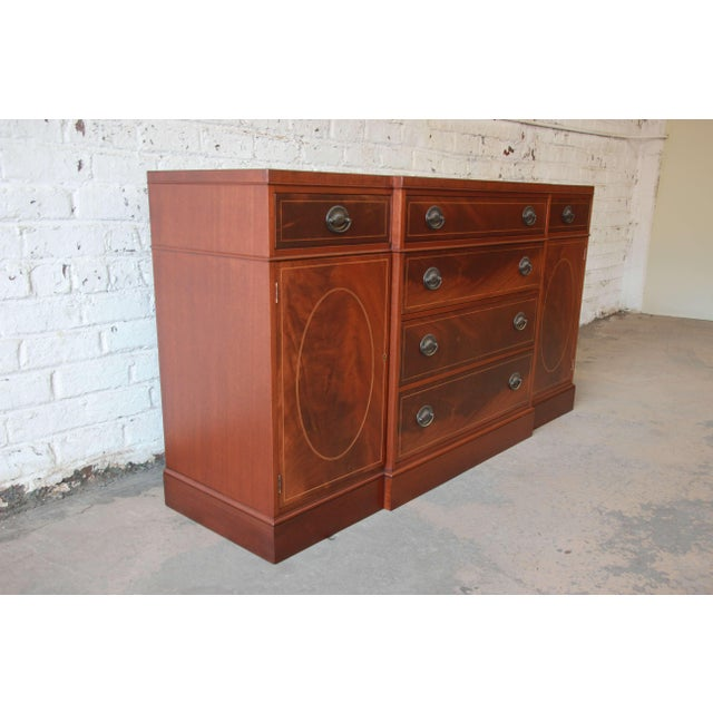 Baker Furniture Inlaid Mahogany Sideboard Buffet For Sale - Image 5 of 11