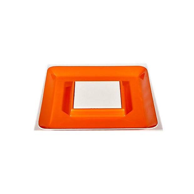 1970s Orange Plastic Serving Plate - Image 4 of 4