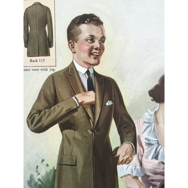 1920s 1923 Tailor's Fashion Print For Sale - Image 5 of 5