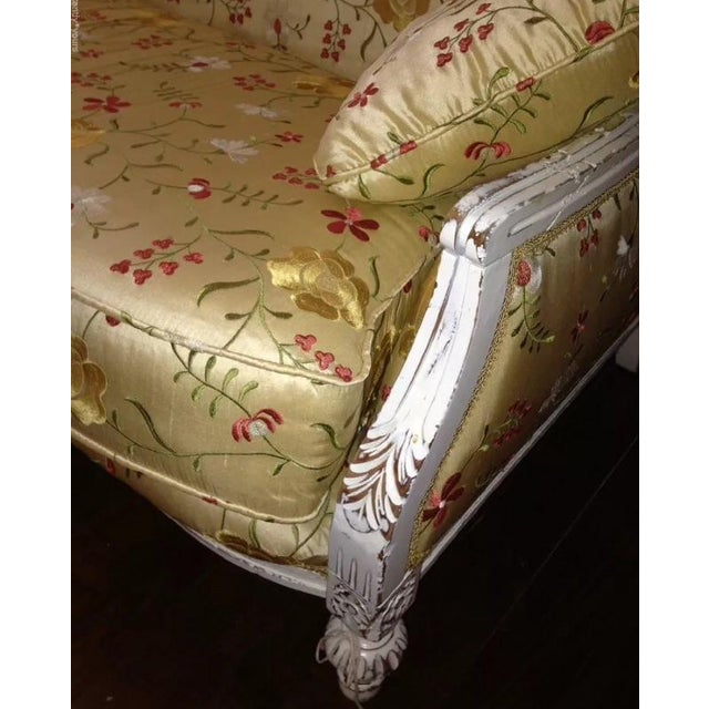 Antique Louis XVI Style French Settee - Image 5 of 9