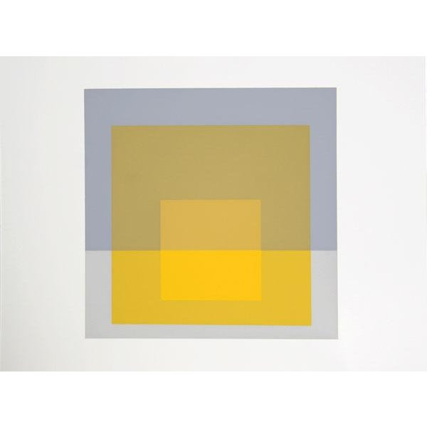Abstract Expressionism Josef Albers - Portfolio 2, Folder 5, Image 1 Framed Silkscreen For Sale - Image 3 of 4