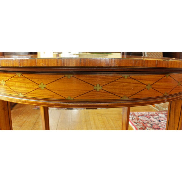 Late 19th Century English Satinwood Center Table For Sale - Image 5 of 7