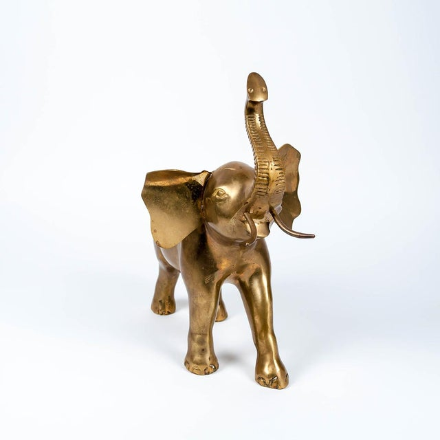 Vintage Large Brass Elephant - Image 9 of 10