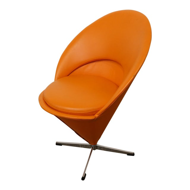 Mid Century Modern Verner Panton Cone Chair For Sale