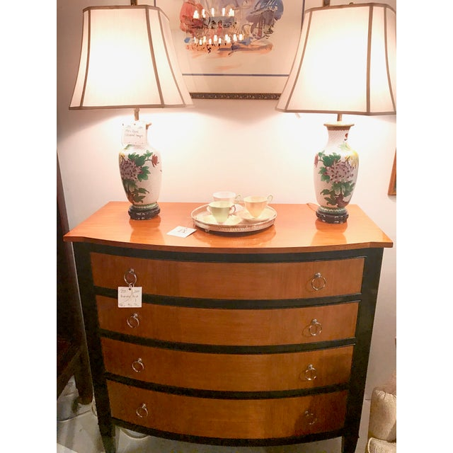Hollywood Regency Henredon Serpentine Front Chest of Drawers -- Final Markdown For Sale - Image 3 of 5