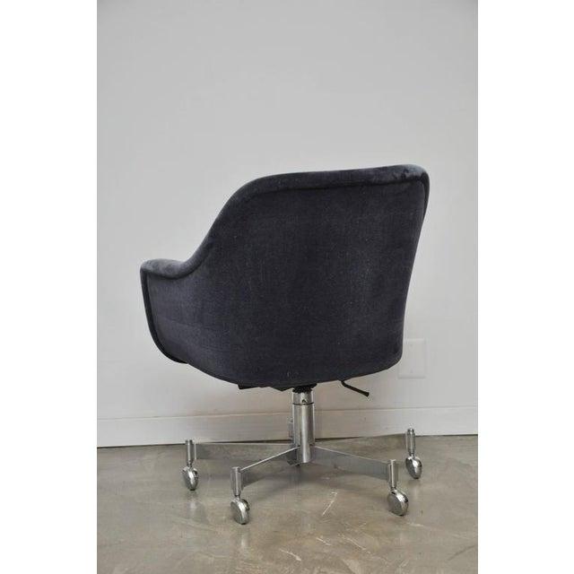 Ward Bennett Desk Chair in Mohair - Image 4 of 7