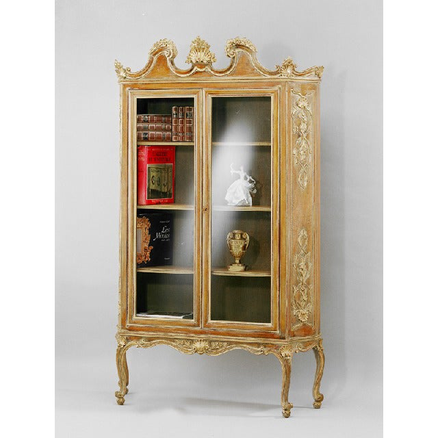 French Hand Carved Wood Bookcase - Image 4 of 4