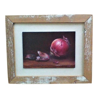 """""""Red Onion"""" Still Life Oil Painting by Michele Beaujardin For Sale"""