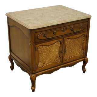 """French Provincial Imperial Furniture Grand Rapids Country 26"""" Storage End Table For Sale"""